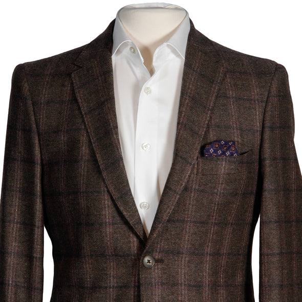 Brown Check Contemporary Fit Sport Coat