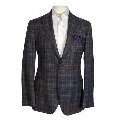 Brown Check Contemporary Fit Unconstructed Sport Coat