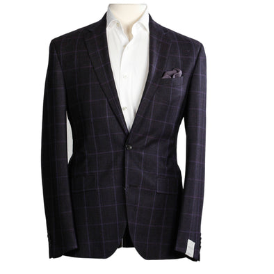 Jack Victor - Maroon Check - Ink - Slim Fit