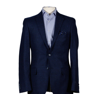 Blue Micro Check Contemporary Fit Sport Coat