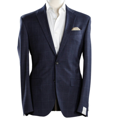 Jack Victor - Gray & Blue Check - Floyd - Slim Fit