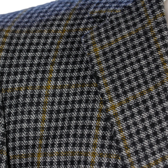 Yellow Check Contemporary Fit Sport Coat