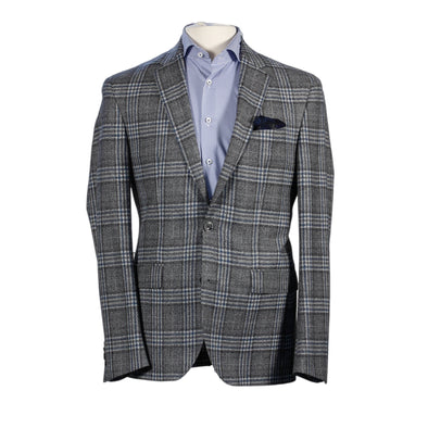 Jack Victor - Blue Check Slim Fit Sport Coat