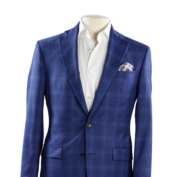 Blue Check Modern Fit Suit - Esprit
