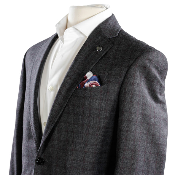 Ted Baker - Charcoal Plaid Check Jay Slim Fit Suit