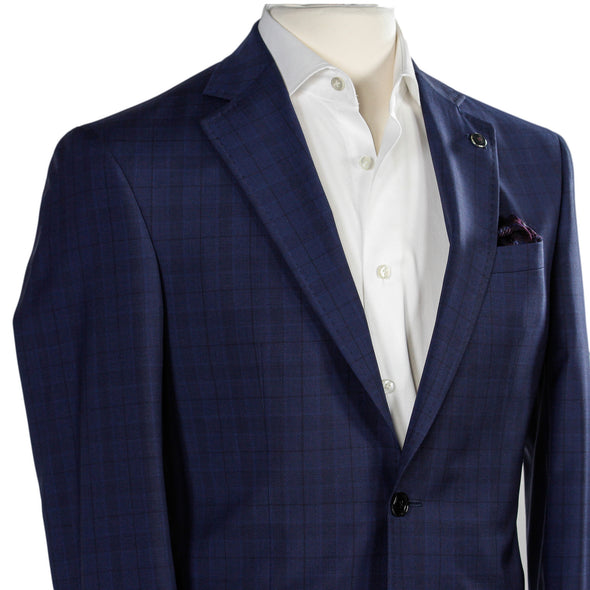 Ted Baker - Blue Check Slim Fit Suit