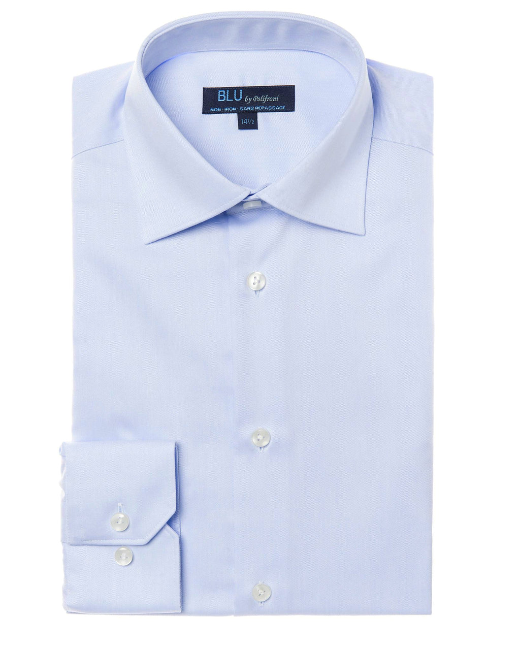 BLU by Polifroni Sky Blue dress shirt, non-iron
