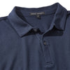 Dark Caspian Sven Long Sleeve Jersey Cotton Polo
