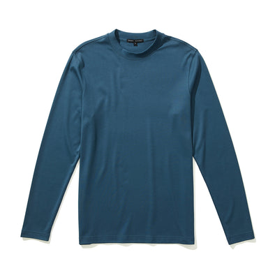 Orion Blue Georgia T-Shirt High Crew Long Sleeve