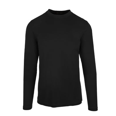 Black Georgia T-Shirt High Crew Long Sleeve