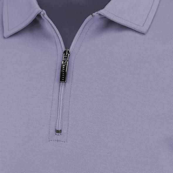 Misty Lilac Georgia T Polo With Zip