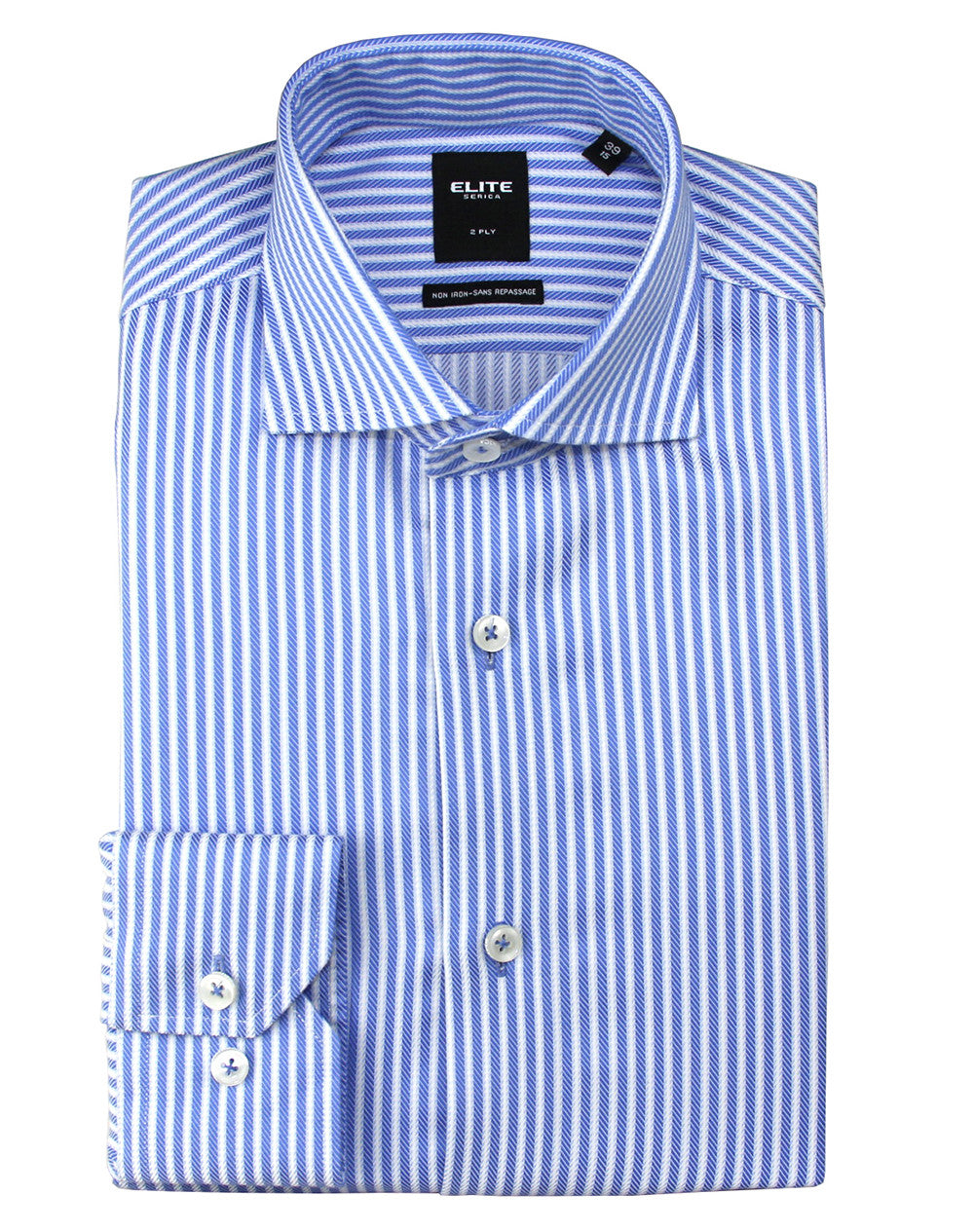 34fd1b0c5d1db3 NON-IRON, SERICA Elite dress shirt | Blue Stripe - Slim-fit ...