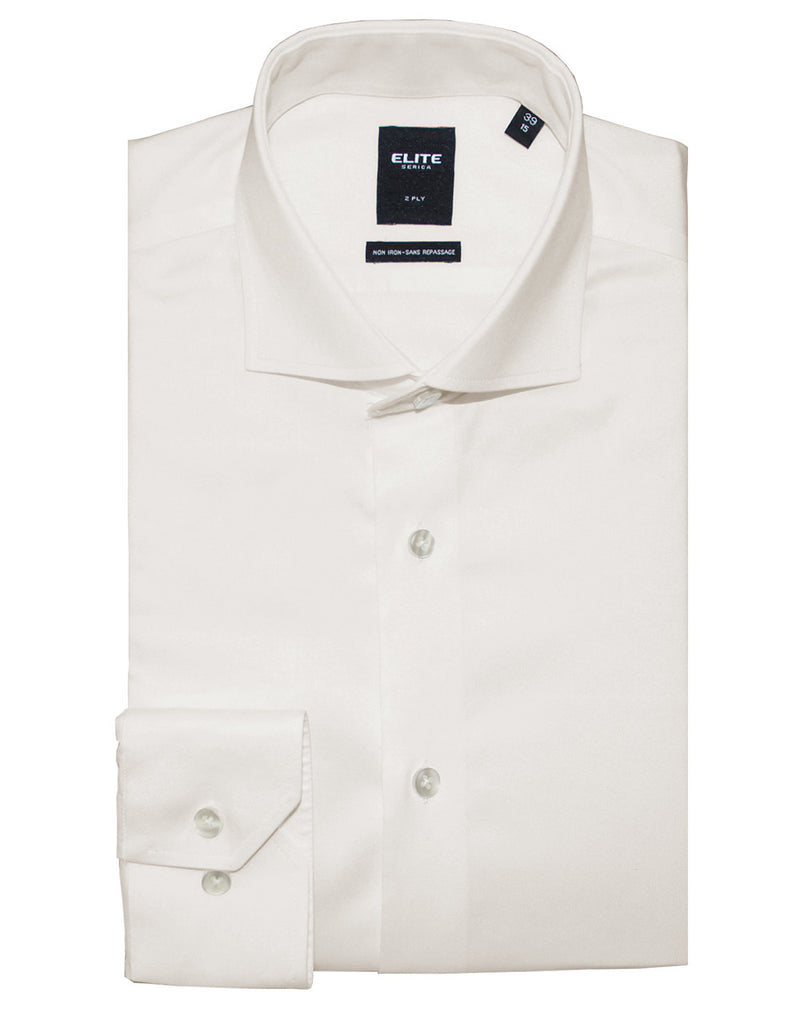Ivory Slim-fit Dress Shirt by Serica Elite