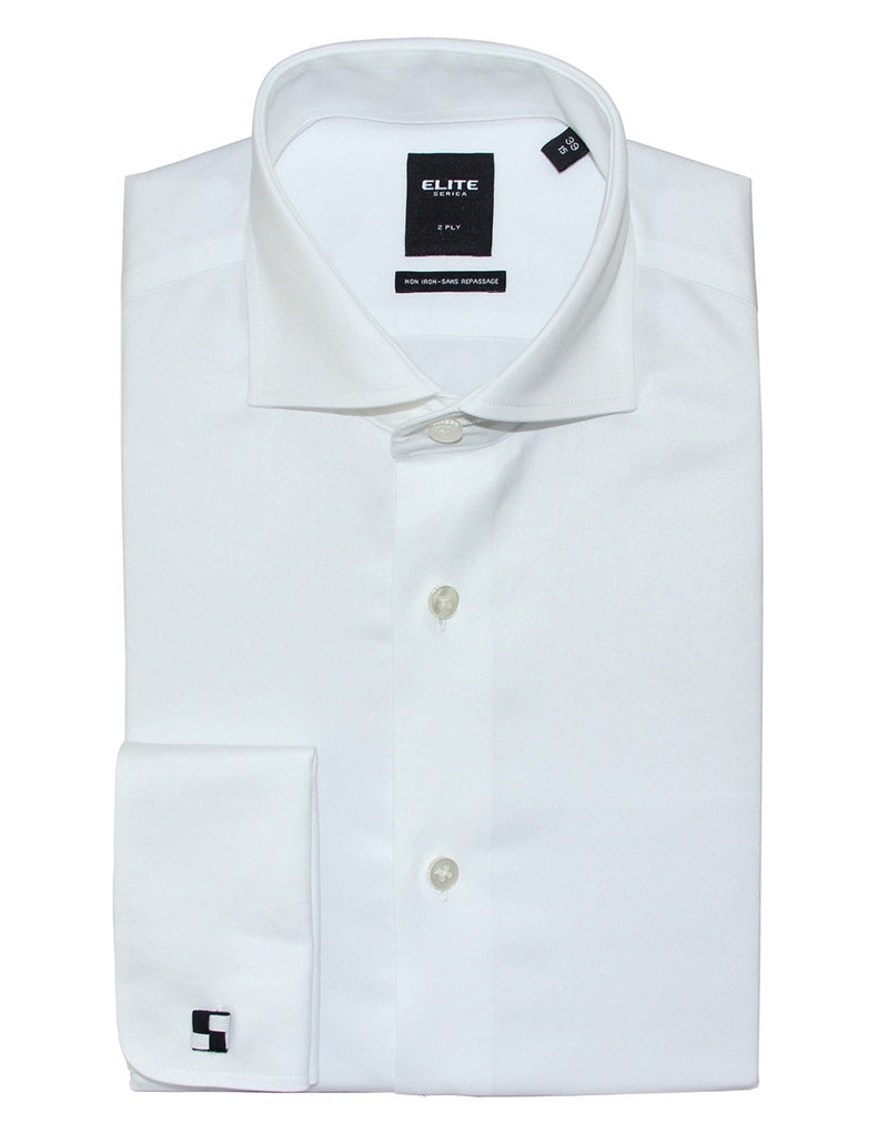 White French Cuff slim fit dress shirt by Serica Elite from BoutiqueJacques.com