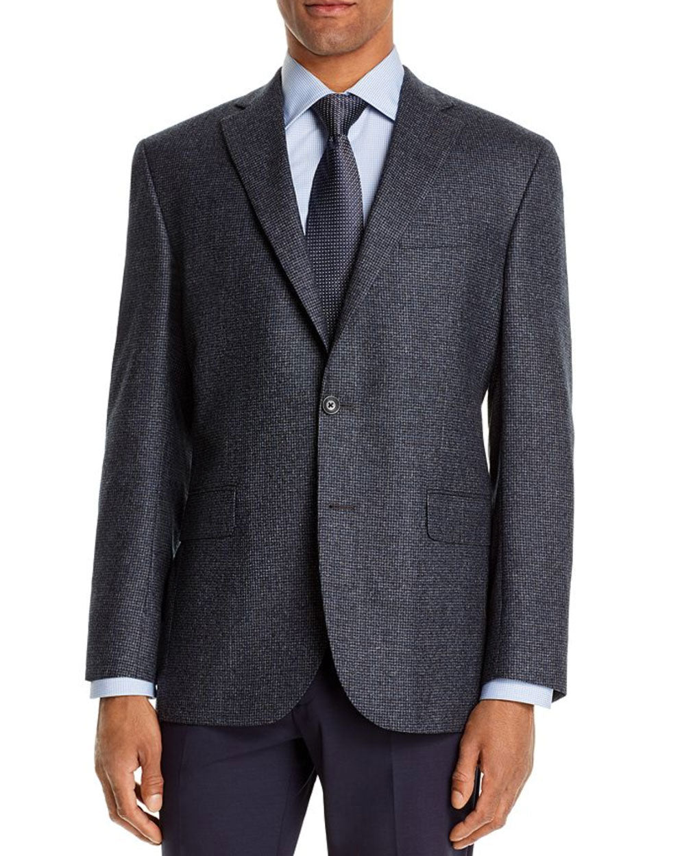 Micro-Check Blue Modern Fit Sport Coat
