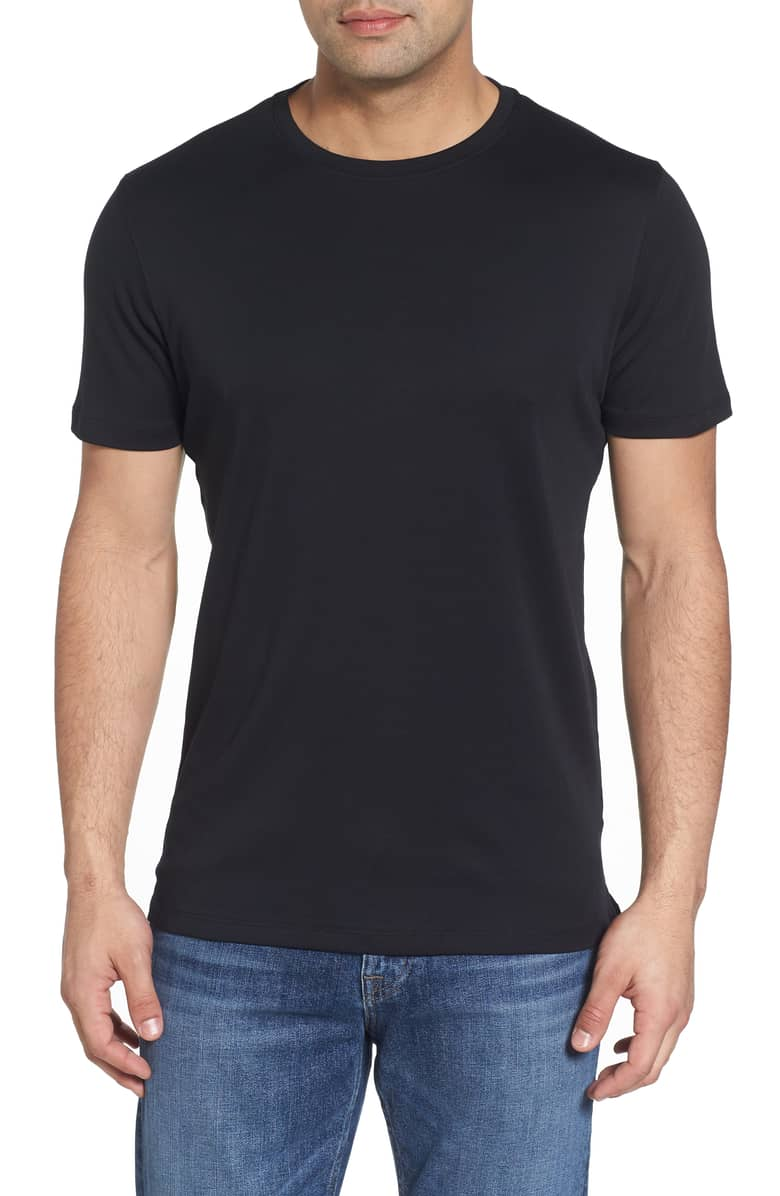 Luxurious Black Pima Crew Neck T-Shirt