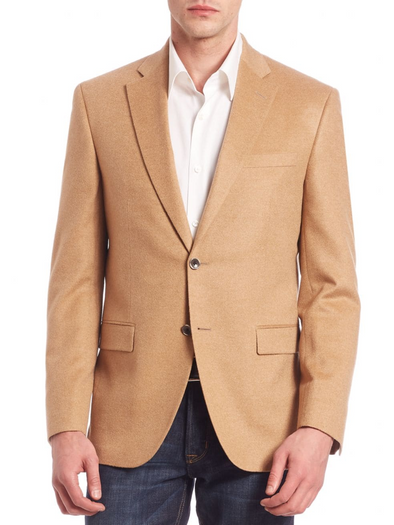 Coast Tan Cashmere Classic Fit Sport Coat