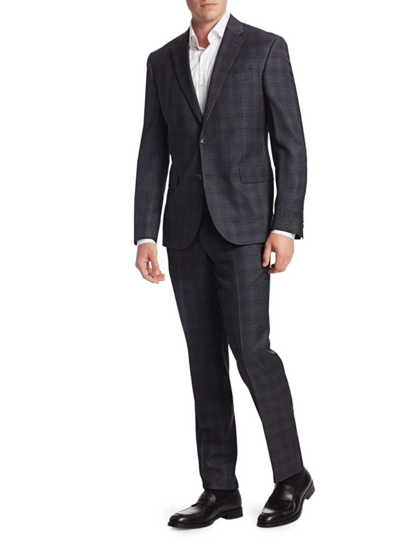 Charcoal Windowpane Check - Slim Fit Suit