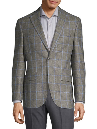Coast Grey Window-Pane Sport Coat - Classic Fit