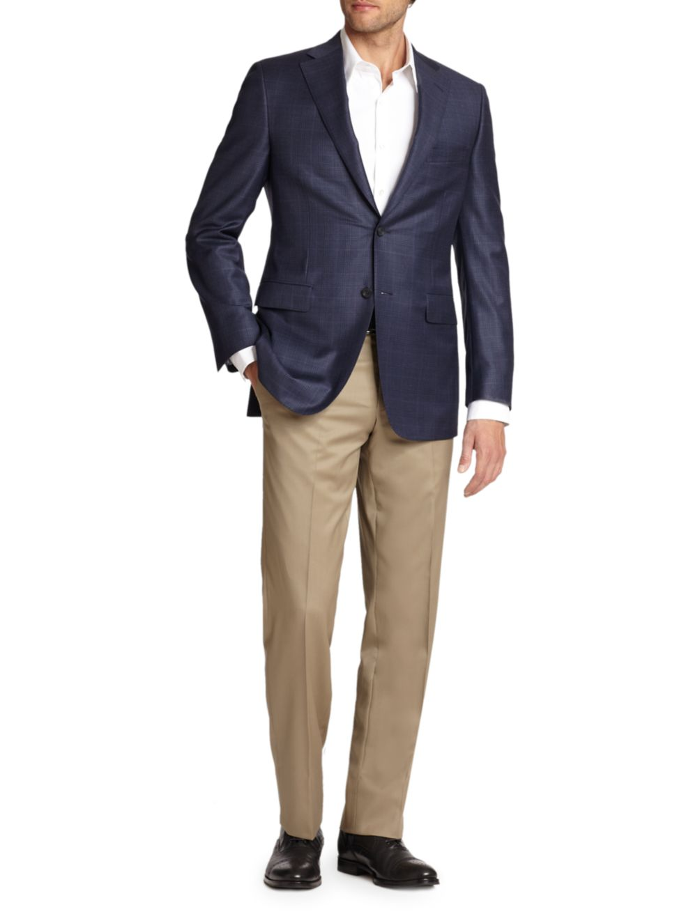 KOLT • Tan • Modern Fit Trouser • Loro Piana