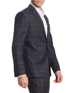 Charcoal Windowpane Check - Ink - Slim Fit