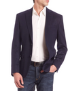 Jack Victor - Navy Cashmere Orleans Contemporary Fit Sport Coat