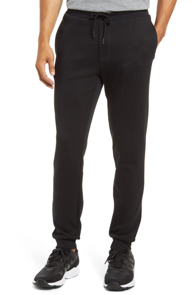 Cortina Pima Black Lounge Pant With Knit Cuff