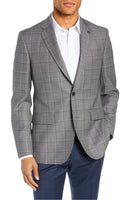 """JAY"" Plaid Windowpane • Sport Coat • Slim Fit"