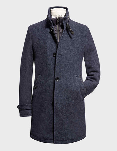 Charcoal Business Wallace Wool Coat  - Milestone