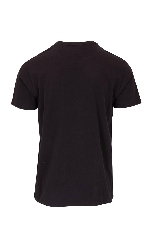 Iconic Black Pima Stretch Short Sleeve Crew Neck