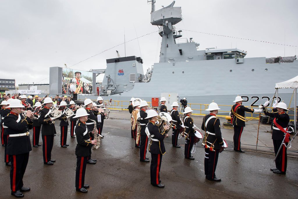 The Royal Navy's newest warship launched with Camel Valley's English Sparkling wine