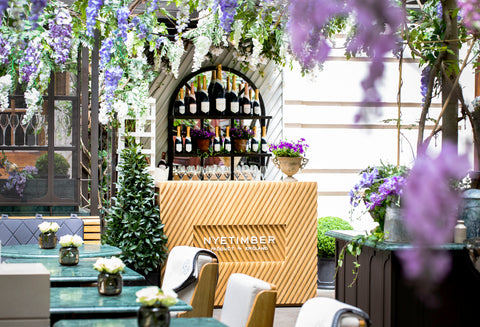 Nyetimber Secret Garden at Rosewood London The English wine collection