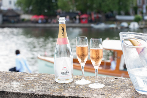 Digby leander pink sparkling wine the english wine collecton leander club rowing