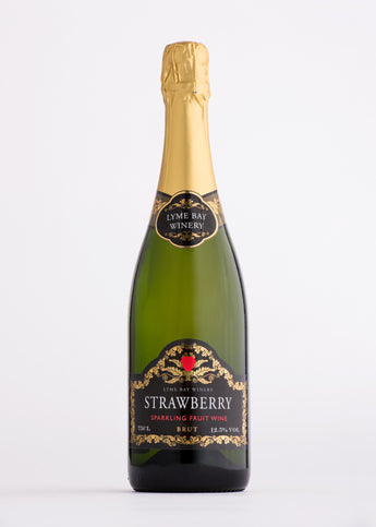 Lyme Bay Strawberry Sparkling Fruit Wine The English Wine Collection
