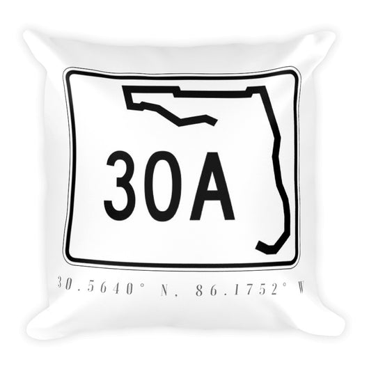 County Road 30A Square Pillow