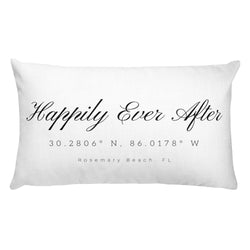 Happily Ever After Rosemary Beach, FL Rectangular Pillow