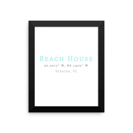 Framed Beach House Seaside Florida Print