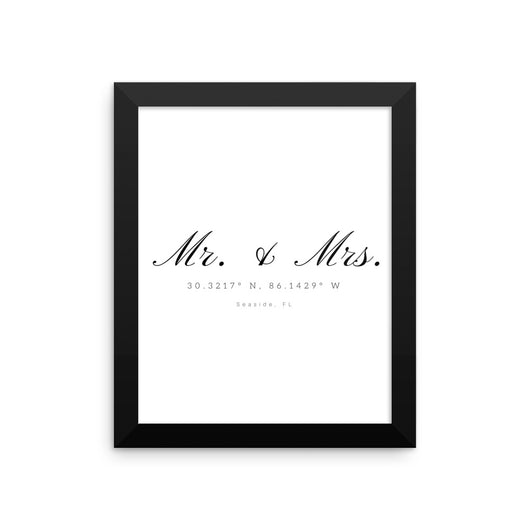 Framed Mr. & Mrs. Seaside Coordinate Print