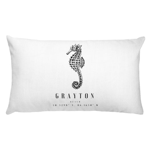 Rectangular Grayton Beach Seahorse Pillow