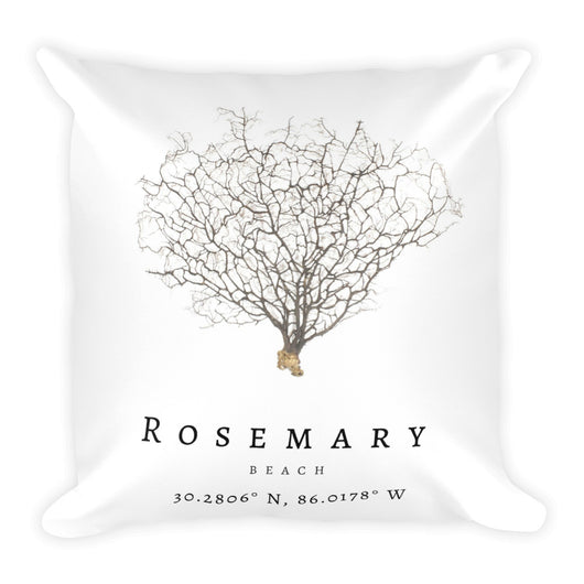 Square Rosemary Beach Sea Fan Pillow