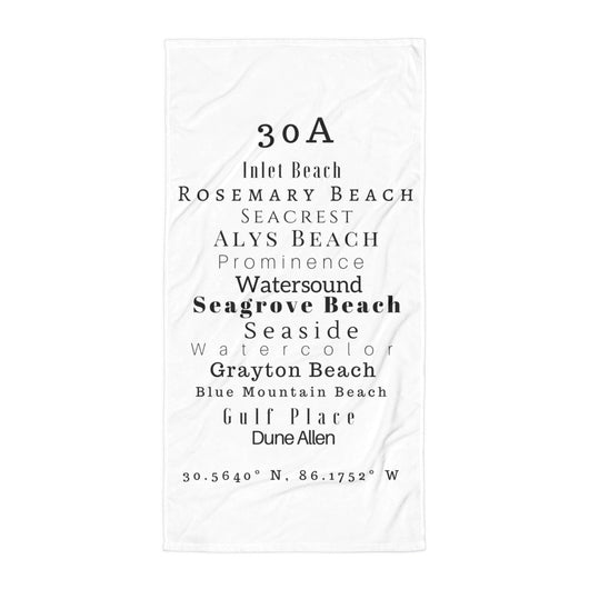 30A Beaches Towel