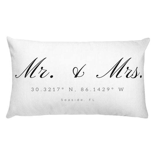 Rectangular Mr. & Mrs. Seaside, FL Pillow