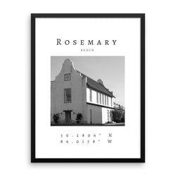 Framed Rosemary Beach Town Hall Print