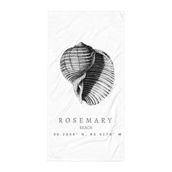 Rosemary Seashell Beach Towel