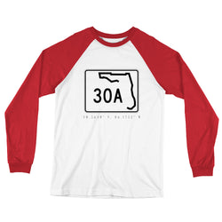 County Road 30A Long Sleeve Baseball T-Shirt