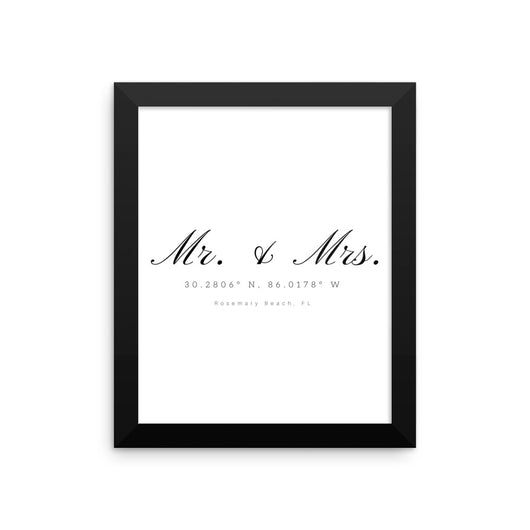 Mr. & Mrs. Rosemary Beach Coordinate Framed Print
