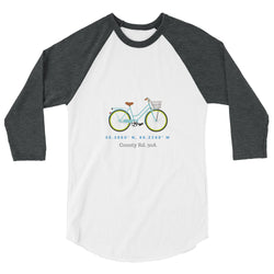 3/4 sleeve raglan, 30A bike ride shirt