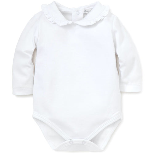 LS ONESIE WITH RUFFLE COLLAR