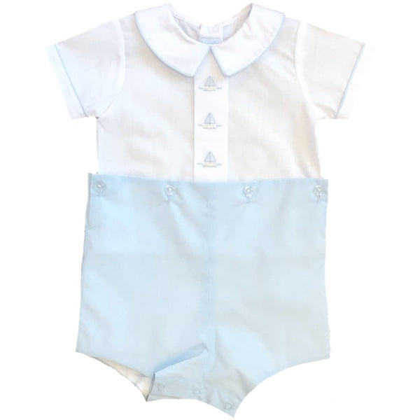 BOYSUIT BLUE/WHITE BOATS