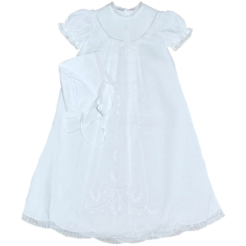PINTUCK CHRISTENING GOWN